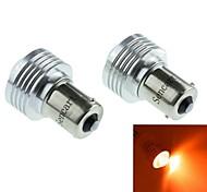 1056 (BAU15s PY21W) 3w 3cob 635-700nm lumière LED rouge pour feu de marche arrière (DC12V / 2pcs)