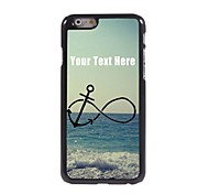 Personalized Phone Case - Anchor and Beach Design Metal Case for iPhone 6