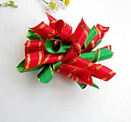 Lovely Christmas  Round Ribbon Style Rubber Band Hair Bow for Pet Dogs