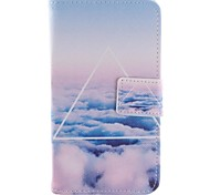 Only Beautiful Cloud Design PU Leather Case Cover with Stand and Card Slot for Motorola MOTO G