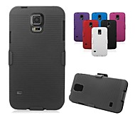 Ribbed Texture Shell And With Fixed Ratching Belt Clip Belt Clip Holster for Samsung Galaxy S5(Assorted colors)