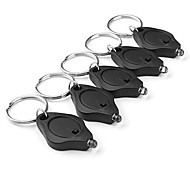 Focused LED Flashlight Keychain Black (5-Keychain)