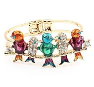 Color Full Diamond Birds Bracelet