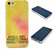 Brief auf goldenem Hintergrund Muster Hülle für das iPhone 4 / 4s