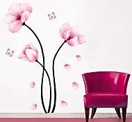 ботанический Цветы Наклейки Простые наклейки Декоративные наклейки на стены материал Положение регулируется Украшение домаНаклейка на