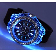 Fashion Silicone Band Capsule Drill Lamp Quartz Wirst Watch (Assorted Colors)
