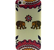 The Baby Elephant Pattern PU Leather Full Body Case with Card Slot and Stand for iPhone 5/5S