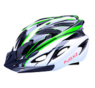 FJQXZ 18 Vents EPS+PC Green and Black Integrally-molded Cycling Helmet(56-63CM)