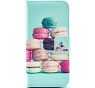 HamburgerPattern Full Body Case with Stand for iPhone 5C