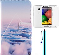 Only Beautiful Clouds Cloud Design PU Leather Full Body Case for Motorola moto E