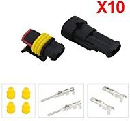 10 Kit 1.5mm Car Boat Motorcycle Bike Truck 2 Pin Way Waterproof Electrical Wire Connector Plug
