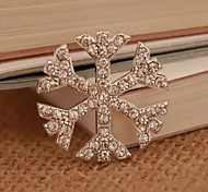 1PCS Embedded Snowflake 2.8cm Alloy Accessories Embedded Rhinestone Handmade DIY Craft Material