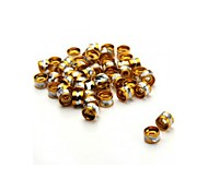 50pcs Metal Gold Silver Spacer Beads Jewellery Findings