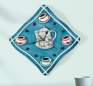 Coffee Theme Polyresin Wall Clock