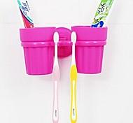 la taza y el cepillo de dientes cepillos de dientes colgando multifunción (color al azar)