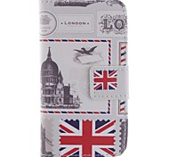 UK Stamp and Big Ben Leather Full Body Case with Stand for Samsung Galaxy S3 Mini I8190