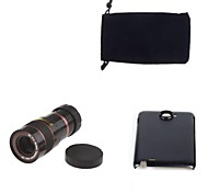 Apexel Optical 8X Zoom Telescope Lens Manual Focus with Back Case for Samsung Galaxy Note N7000