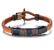Personality Leather Woven Men's Bracelet