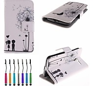 Dandelion's Promise Pattern PU Leather Full Body Case with Touch Pen for Motorola Moto X