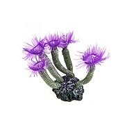 lila Aquarium Silikon-Kunstwerk Meer Korallen Blütenornament