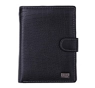 CA503D2 High Quality Men's Fashion Business Cowhide Genuine Leather More Screens Wallet