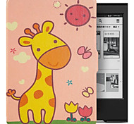Natusun Sunshine Deer Patterns Folio Leather Cover for Amazon New Kindle/Kindle 7th Gen