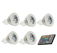 GU10 LED Spotlight 1 150 lm Remote-Controlled Decorative AC 85-265 V 5 pcs