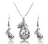 Fashion Change Pocket Necklace And Earring Jewelry Set Random Color