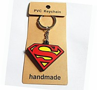 Superman Style Keychain with Soft Plastic Material(1pc)
