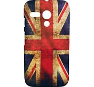 patrón de bandera británica caso duro plástico retro para motorola moto g
