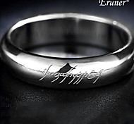 Titanium Steel Bright Silver Ring