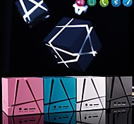 LED cube MP3 Function Mini Bluetooth Speaker with TF Port for iPhone 6 Plus/Laptop/Tablet PC