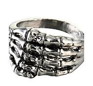 Fashion Palm Silver Titanium Steel Ring