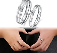 Exquisite Gift Fashion Frosted Titanium Steel Couples Ring Promis rings for couples