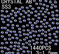1440pcs 1.3-1.5mm de color ab brillo cristalino del rhinestone flatback decoración del arte del clavo