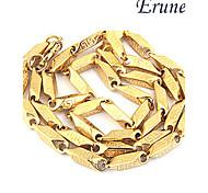 Eruner®Titanium Steel Great Wall Golden Pattern Stainless Steel Necklace