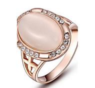 roxi l'exquise des femmes rose plaqué or bagues de perles elliptiques