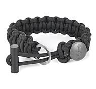 EDCGEAR Parachute Cord Rope Bracelet with Ferrocerium Rod + Hidden Knife - Black
