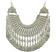 colar declaração tribal étnico jóia colares moeda cigana