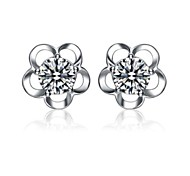 925 Sterling Silver Earring Sterling Silver Stud Earrings Six Claw Girls Harley Cute Fashion Earring