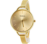Women's Round Gold Dial Alloy Band Quartz Fashion Watch Cool Watches Unique Watches