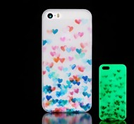 Heart Pattern Glow in the Dark Hard Case for iPhone 4/4S