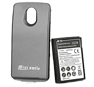 Minismile™ Replacement 3.7V 3800mAh Extended Battery Pack with Back Case for Samsung i9250
