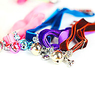 Velvet Pet Necklaces With Bell and Diamond for Pet Dogs and Cats(Random Colors)
