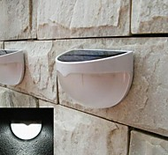 6 LED Light-control Solar Powered Fence Gutter Wall Roof Garden Stair Light Lamp