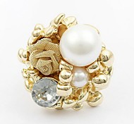 Women's Pearl Roses Open Ring