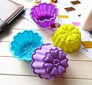 Chrysantheme Form Kuchenform Eis Gelee Schokoladenform, Silikon 9,5 x 7 x 4,5 cm (3,7 x 2,8 x 1,8 Zoll)