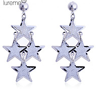 Lureme®Glitter 3 Layers Star Dangle Earrings