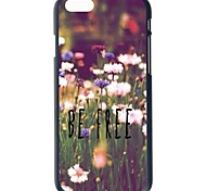 """Doopootoo™ Be Free Flowers Painted Pattern Slim Plastic Back Hard Case Cover For iPhone 6 4.7"""""""