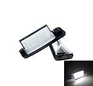 4w 18x3528smd lumière blanche conduit nombre a mené la lampe de plaque d'immatriculation a mené la lumière de plaque d'immatriculation pour e36